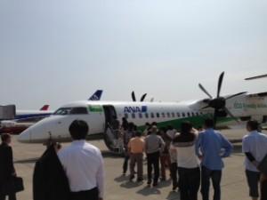 小松空港よりANAプロペラ機にて九州へ行きます