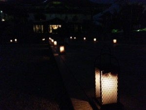 佐佳枝廼社境内の行燈