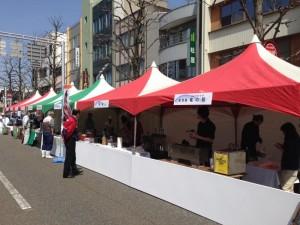 どまんなか丼祭りをふくい春祭り時代行列会場で開催いたしました