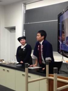 春江中学校で職業別選択講座が行われ天たつより三人講師として参加をさせていただきました