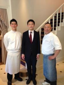 GRACIANI総料理長、総料理長と記念写真をとらせていただきました