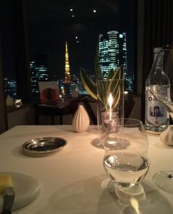 ANAコンチネンタルホテル東京36階のミシュラン二つ星フレンチレストラン「ピエール・ガニエール東京」様は素晴らしいロケーションです